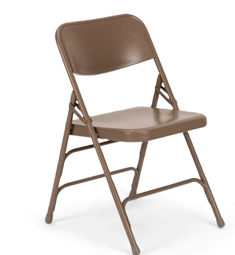 Awesome Beige Metal Folding Chair Caraccident5 Cool Chair Designs And Ideas Caraccident5Info