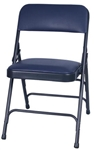 Blue Vinyl Metal Folding Chair