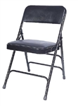Blck Vinyl Metal Folding Chair