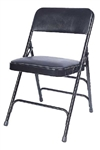 Cheap Blue Vinyl Metal Folding Chair