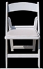 White resin folding chair discounts