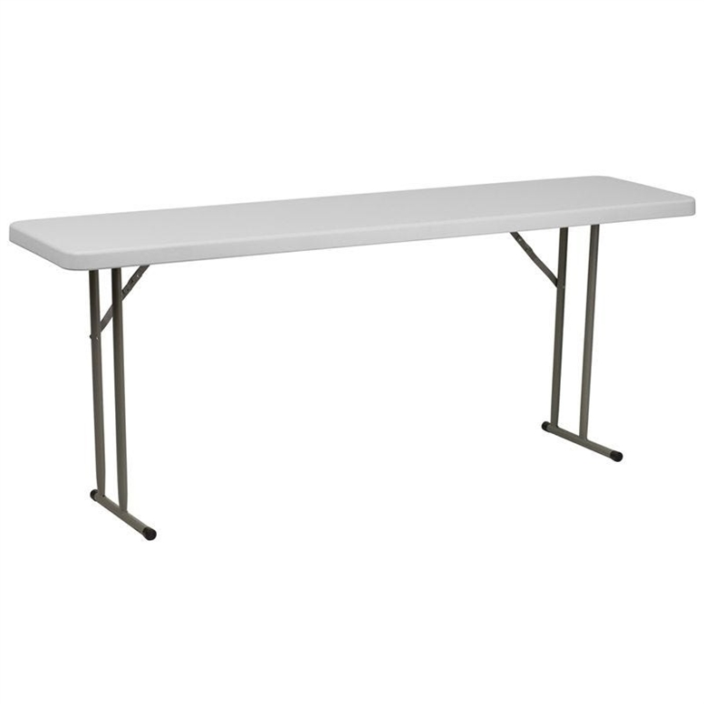 "18 x 72"" Plastic Discount Folding Table"