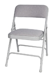 Discount Prices Gray Metal Vinyl Padded Chair