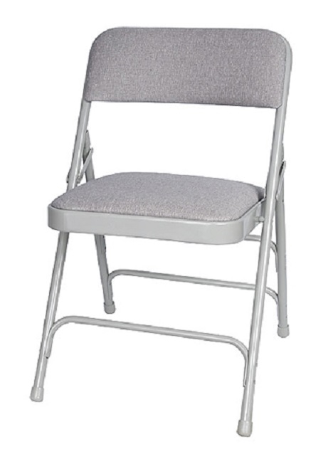 Fine Gray Metal Vinyl Chair Pabps2019 Chair Design Images Pabps2019Com