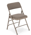 Discount Gray Metal Vinyl Padded Chair