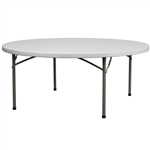 "Discount 72"" Round Folding Table, Commercial Hotel Quality Folding Tables"