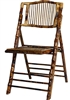 Discount bamboo folding chair