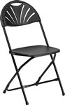 Cheap Prices Black Fan Back Chair