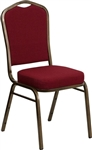 Burgundy Fabric Banquet Chairs