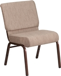 "Tan Chapel Chair, Chapel Chairs, Church Chairs, 21"" Wide Church Chairs, Cheap Church Chairs, Wholesale Church Chairs"