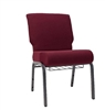"<span style=""FONT-SIZE: 11pt"">Burgundy 21"" Chapel Chair w Bookrack</span>"