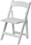FREE SHIPPING - White WOD  Padded Folding Chairs