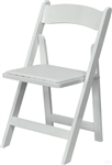 DISCOUNT WHITE WOOD FOLDING CHAIR