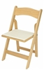 Natural Wood Folding Chair WHOLESALE