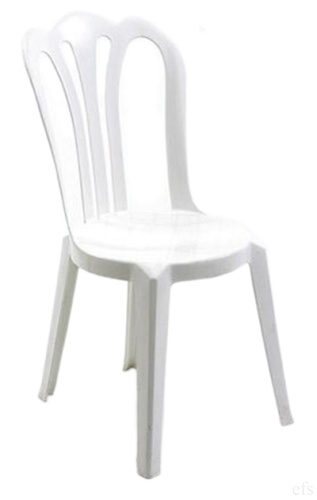 Cafe Vienna White Plastic Stacking Chair