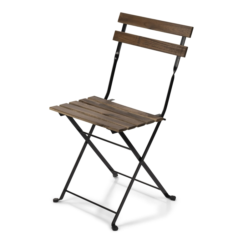 French Wood Bistro Folding Chair