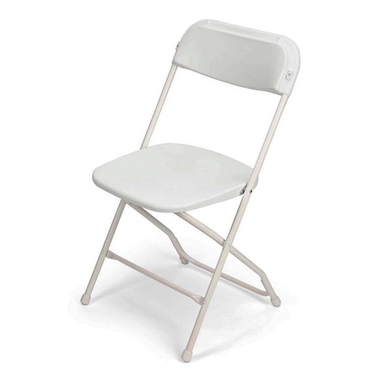 200 pcs White Folding Chairs