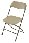 WHOLESALE Beige Discount Plastic Stacking Chairs