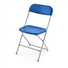 Blue Plastic Folding Chairs | Plastic Folding Chairs | Blue Folding Chair
