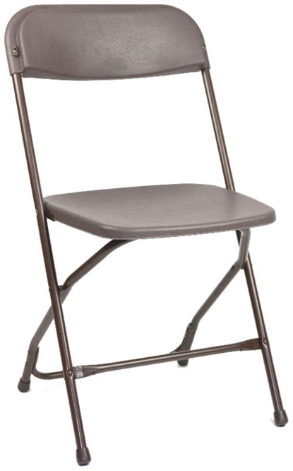 Low Prices Brown Plastic Folding Chair, Florida Poly Brown Wholesale Chairs, lowest prices plastic folding chair