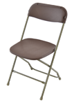 Brown Poly Chair,Samsonite Folding Chairs, Rental Folding Chairs on sale, WHOLESALE CHIARS
