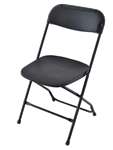 Black Discount Plastic Stacking Chairs
