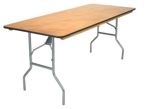 "FREE SHIPPING   30 x 96"" Plywood Round Folding Tables 