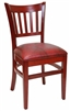 Restaurant Chair Cherry Vertical Back