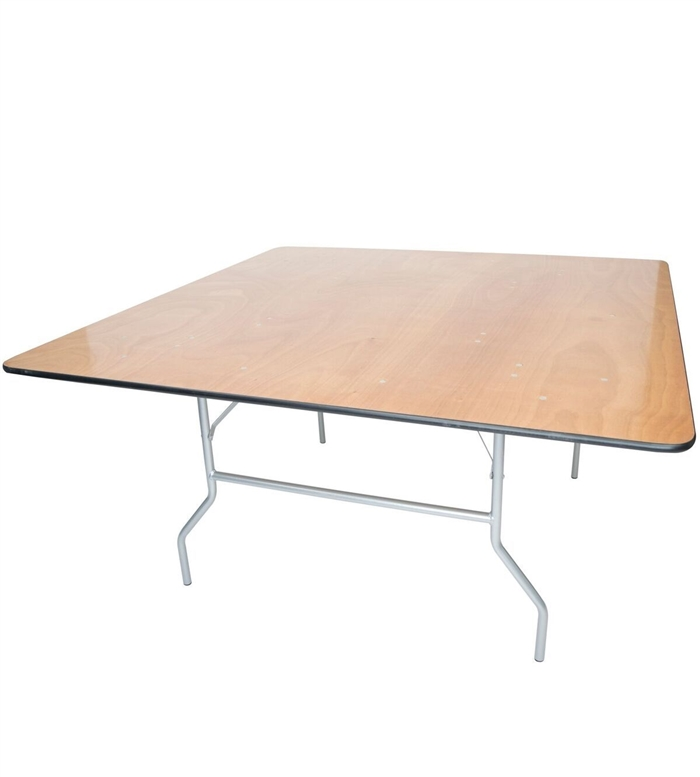 48 inch Square Plywood Round Folding Tables DISCOUNT