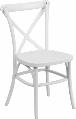 Discount White  Resin X Chair., Banquet Chairs
