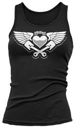Lethal Threat Piston Heart Womens Tank Top