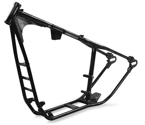 Paughco Wide Tire Rigid Frame for Sportsters - 35deg. Rake, 2-1/4in ...