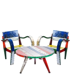 Think Outside Low Lounger Table & Chairs Set