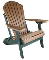 Classic Folding Adirondack Chair, Premium Woodgrain