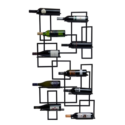 Mid Century 10-Bottle Wall Rack
