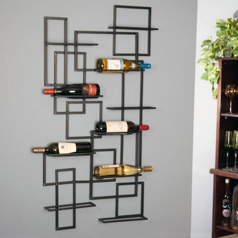 mid century bottle wall rack -