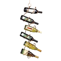 Climbing Tendril 6-Bottle Hanging Rack, Copper