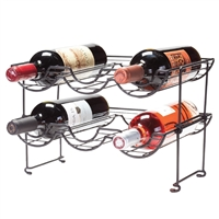 Halfpipe 6-Bottle Stackable Wine Rack