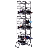 Scaffovino 18-Bottle Floor Rack, Black