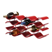 Bali 12-Bottle Wine Rack, Crimson