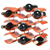 Bali 15-Bottle Wine Rack, Spiced Pumpkin