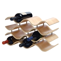 Bali 10-Bottle Wine Rack, Natural