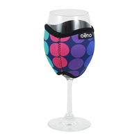 Vino Hug Neoprene Beverage Wrap, Dots
