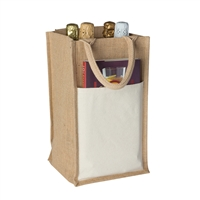 Jute Vino-Sack, Four Bottle