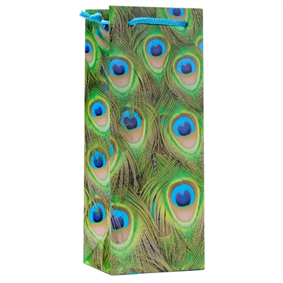 Wine Gift Bag, Peacock