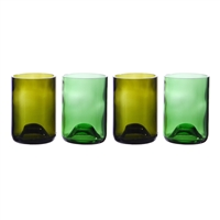 Greenophile Wine Bottle Tumblers, Set Of 4