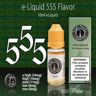 It has a sweet, smooth tobacco flavor with honey roasted nut overtones that are sure to please the palate. Fill your favorite vaping device and start enjoying the flavor of 555 flavored e-liquid today.