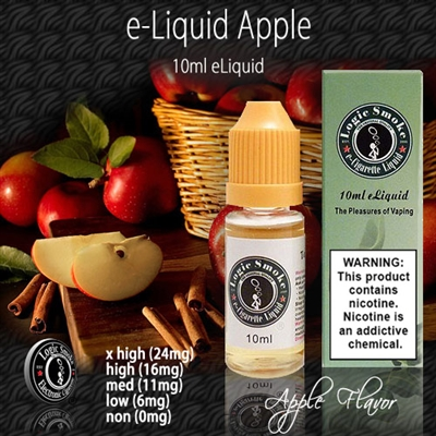Our Apple flavored electronic cigarette e-liquid is a true joy to vape. Its perfect as a stand alone flavor but is also versatile enough to mix with many of our other e-liquid flavors.