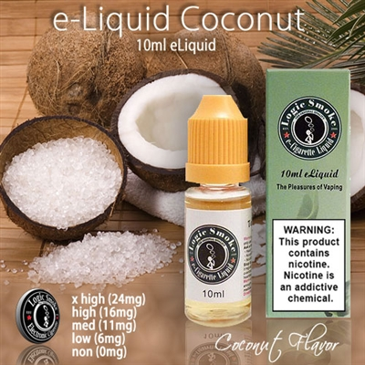 With a genuine coconut flavor, you will feel like you have entered a tropical paradise. Try it by itself, in your favorite e cigarette unit, or mix with other e liquid flavor to make your own tasty flavor.