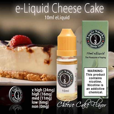 Our Cheesecake e liquid is a calorie and guilt free pleasure that, when vaped in your favorite electronic cigarette, will bring you hours of heavenly, luscious vapor.